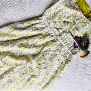 Dresses & Skirts - Yellow and Cream Lace Dress